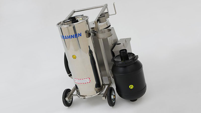 Krahen safety dust vacuum cleaner with CurTec conductive drum