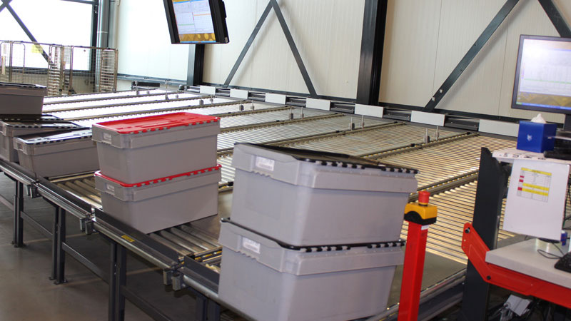 Roller conveyors at UCMG's Logistical Center