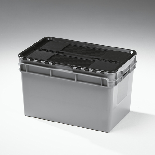 60 litre lidded crate