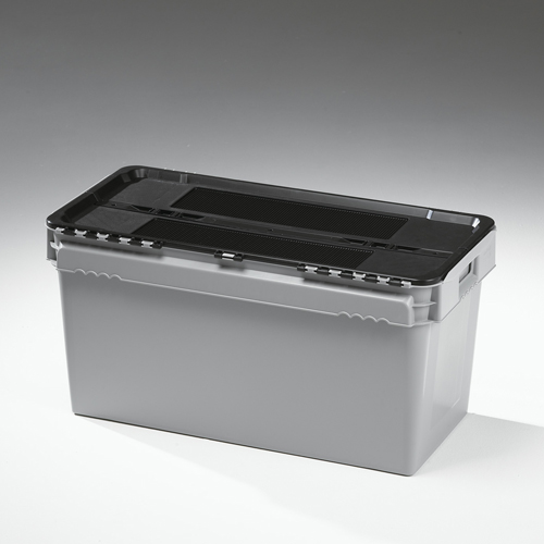 90 litre lidded crate