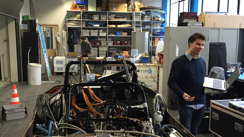 Team Manager Rick Everaert in the Forze workshop