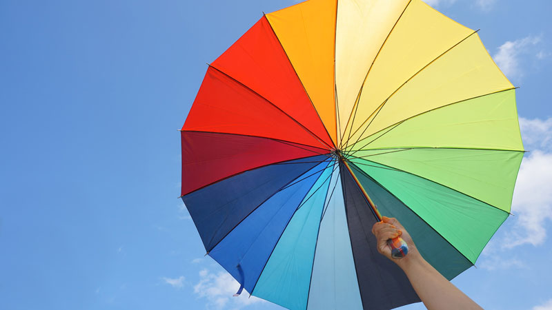 Use color to protect against UV light